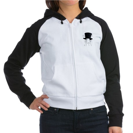 White Rabbit Women's Raglan Hoodie by whitebunny
