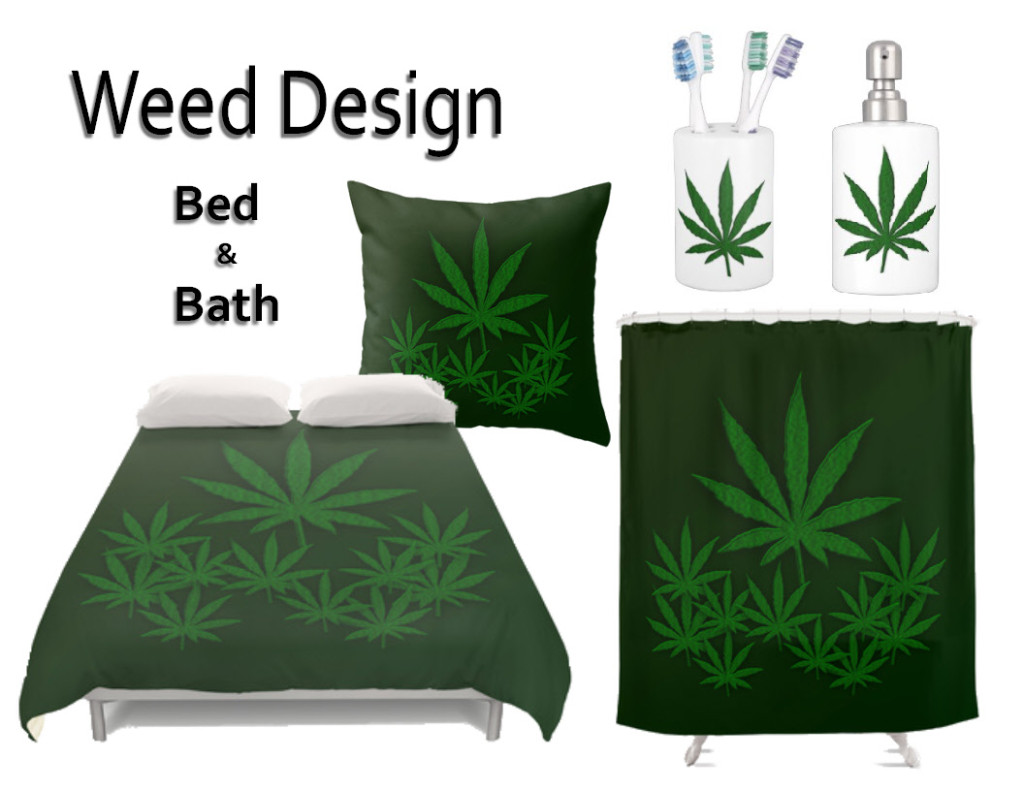 Marijuana design bedroom