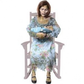 Rocking Moldy Mommy Halloween Animated Decor