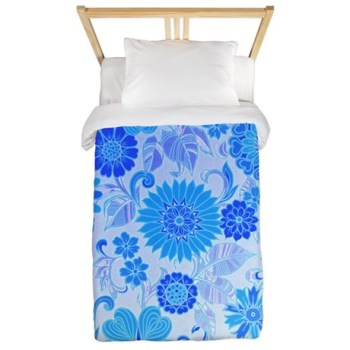 blue_daisy_print_twin_duvet