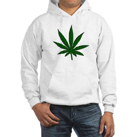 Marijuana Leaf Hoodie by Leatherwooddesign