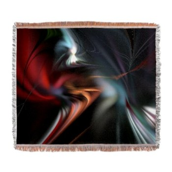 red_misty_fractal_woven_blanket