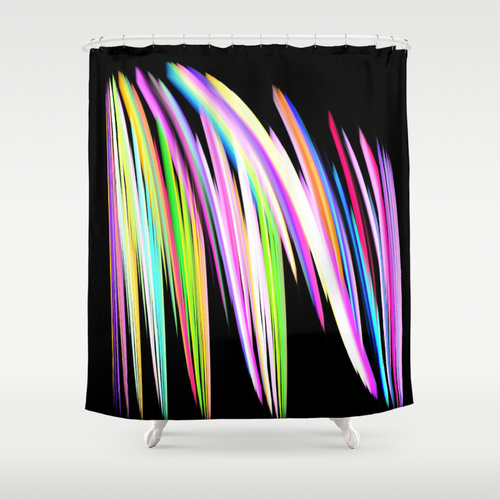 Rainbow shower Curtains