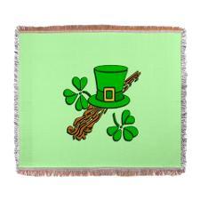 Irish leprechaun hat throw blanket