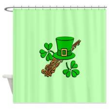 Irish shower curtain