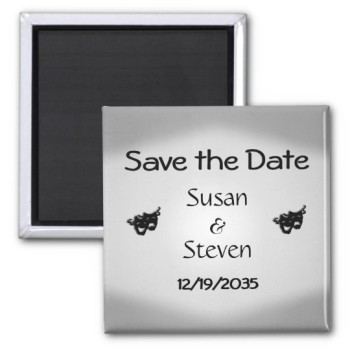 Theater theme wedding save the date.  http://alturl.com/6f45x