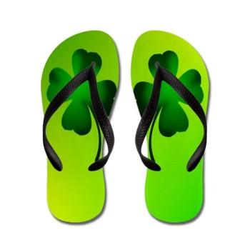 four leaf clover flip flops