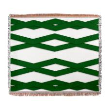Green zigzag throw blanket