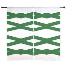 Green zigzag curtains