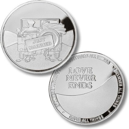 military just married medallion