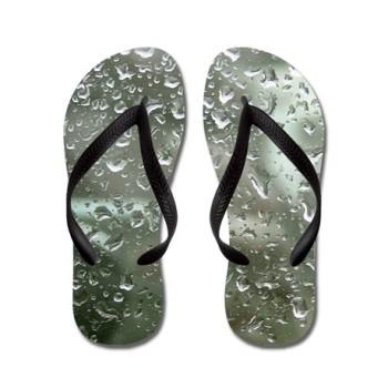 rain drops flip flops
