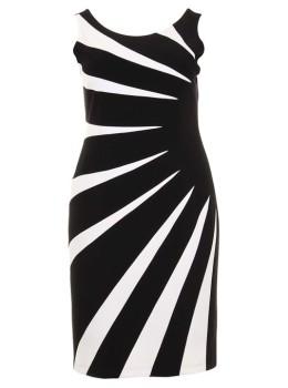 unique black and white dress