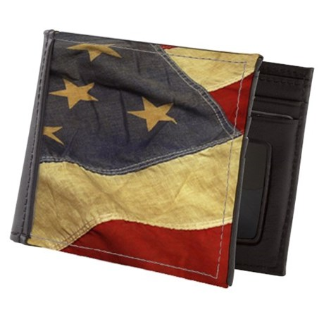 Distressed Vintage American Flag Mens Wallet by Admin_CP11861778