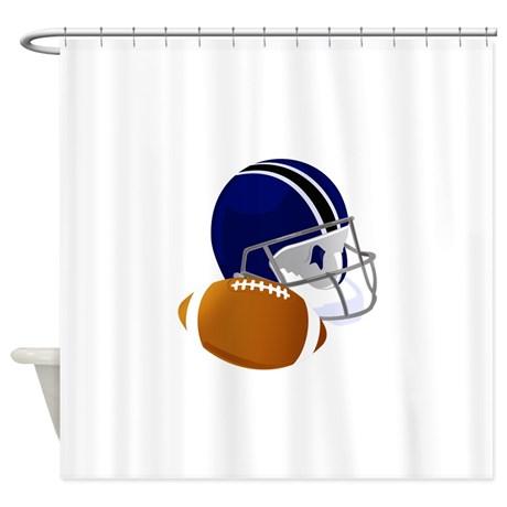 football_helmet_and_ball_shower_curtain