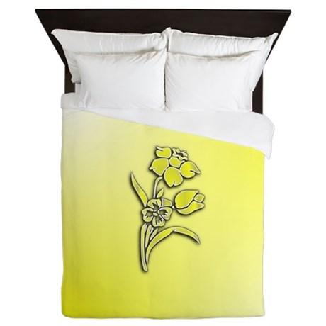 yellow_daffodil_queen_duvet