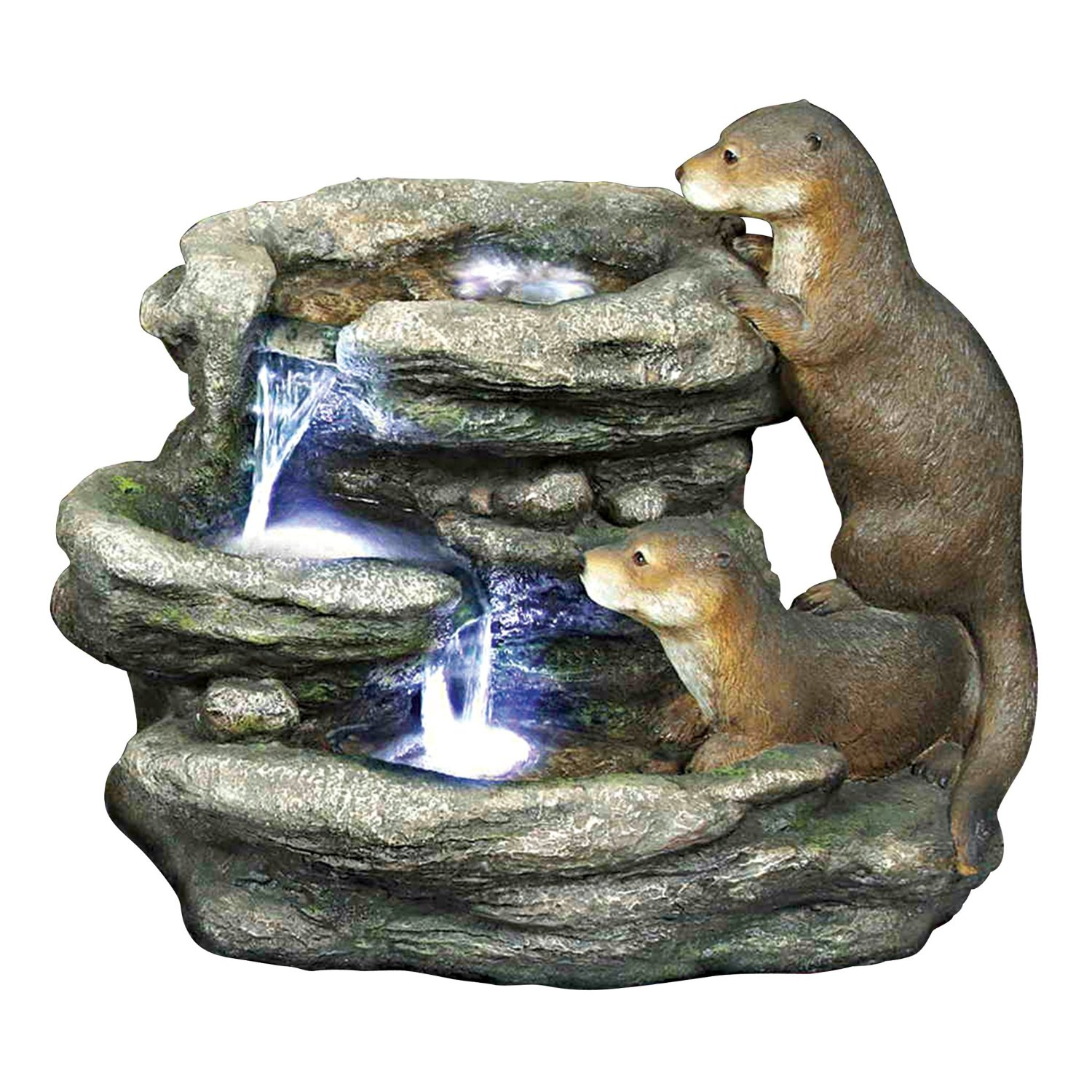 Otter water fountain
