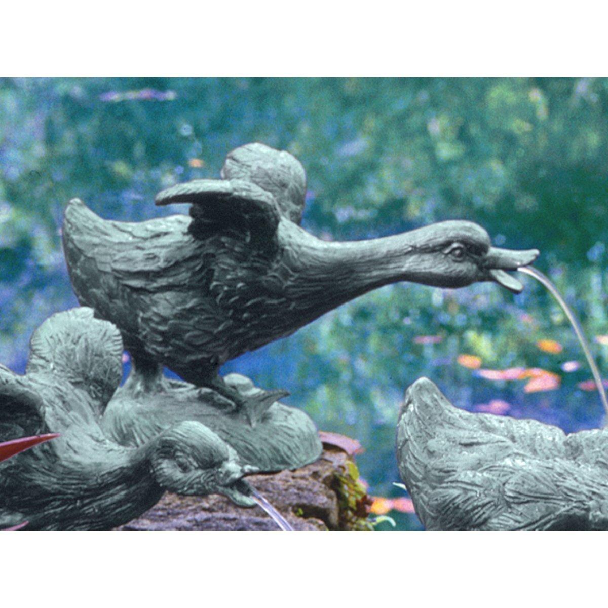 Duck Bronze Garden Pond Statue Sculpture Fountain