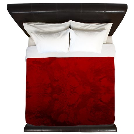Red Satin Design King Duvet Cover