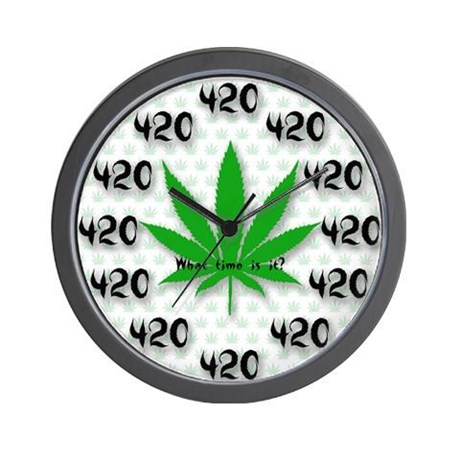 The 420 all the Time Wall Clock by DeathandTaxes