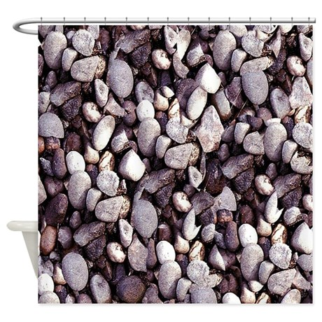 Tiny Pebbles Shower Curtain