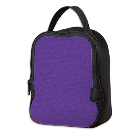 Solid Purple Glimmer Neoprene Lunch Bag by Admin_CP11861778