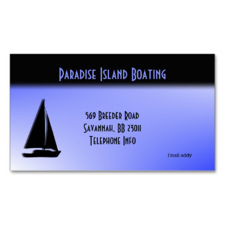 boating business card
