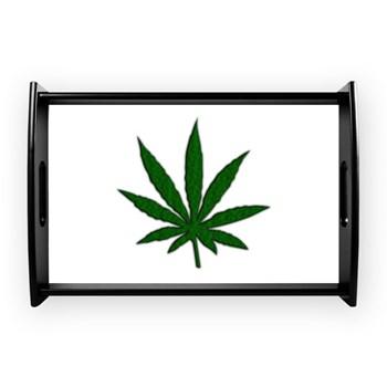 Marijuana Leaf Coffee Tray
