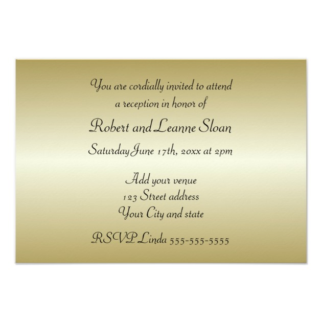 50th Wedding Anniversary Invitation Card Zazzle New