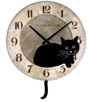 Ashton Sutton Cat Clock With Pendulum Animal Wall Clock New Ideas Items