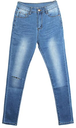 tight distressed jeans 2