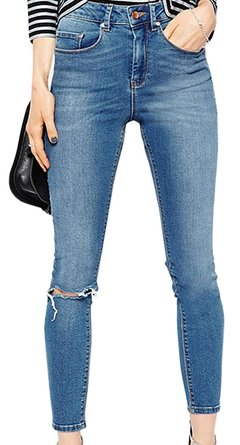 tight distressed jeans