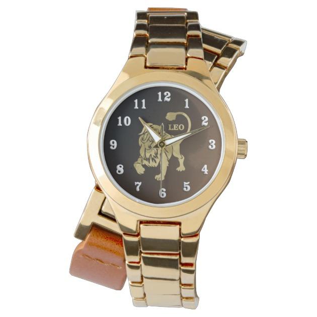 Leo Lion Zodiac Wrist Watch