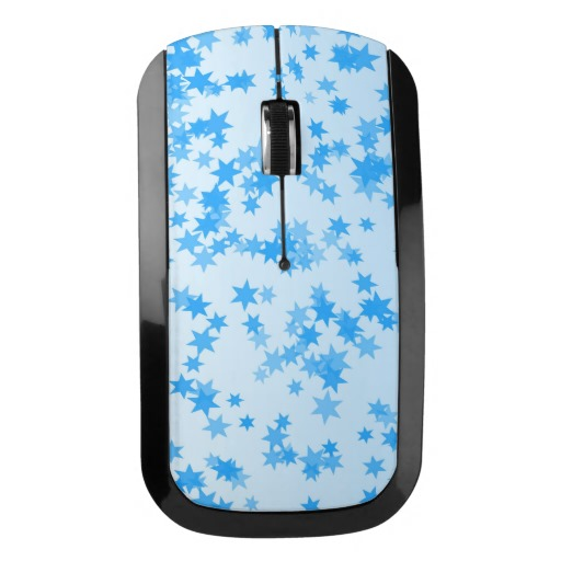 Blue Stars Design Wireless Mouse