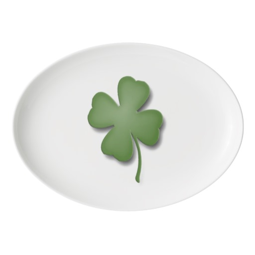 Four Leaf Clover Porcelain Serving Platter