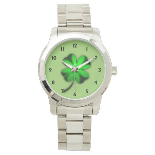Green Irish Clover Watch