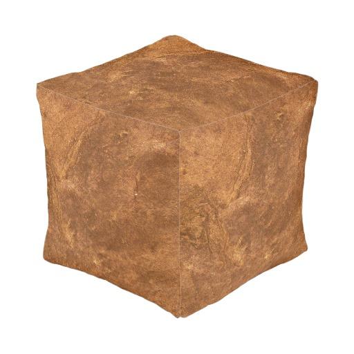 Sandstone Brown Design Pouf