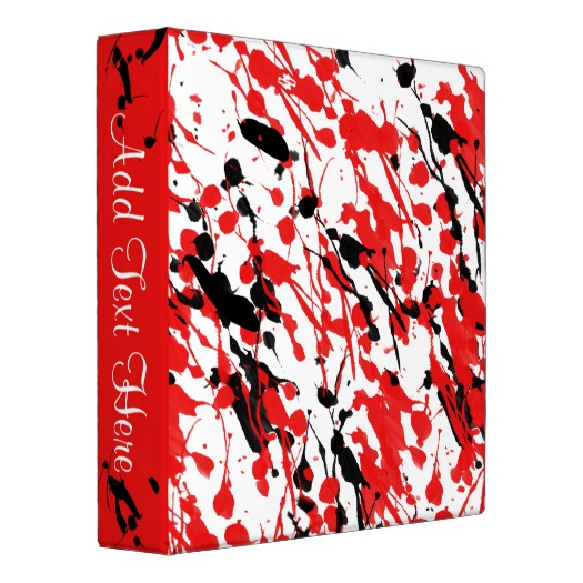 Abstract Splash and Drip Binder