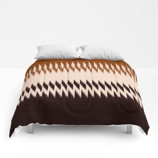 Black and Tan Edge Comforters