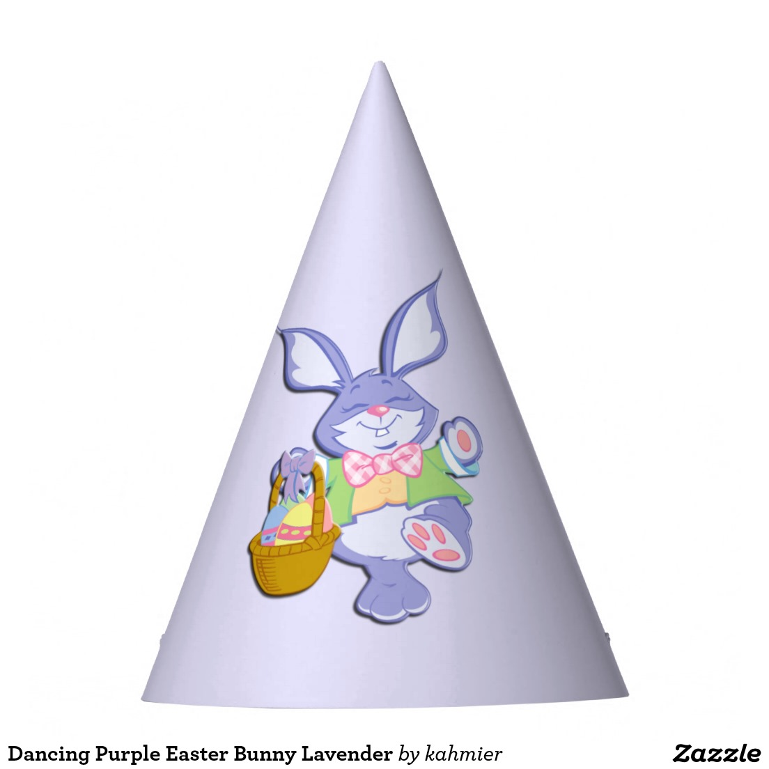 Dancing Purple Easter Bunny Lavender Party Hat