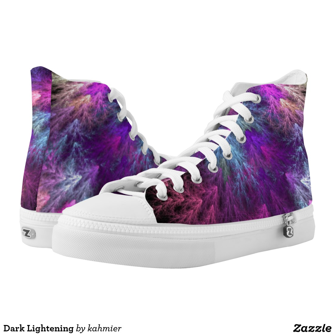 Dark Lightening High-Top Sneakers