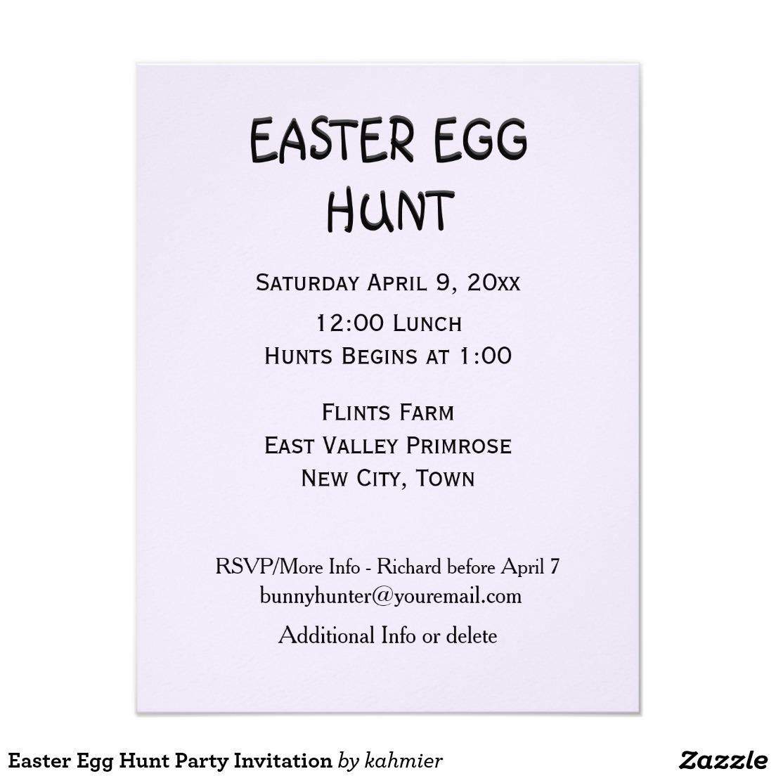 Easter Egg Hunt Party Invitation