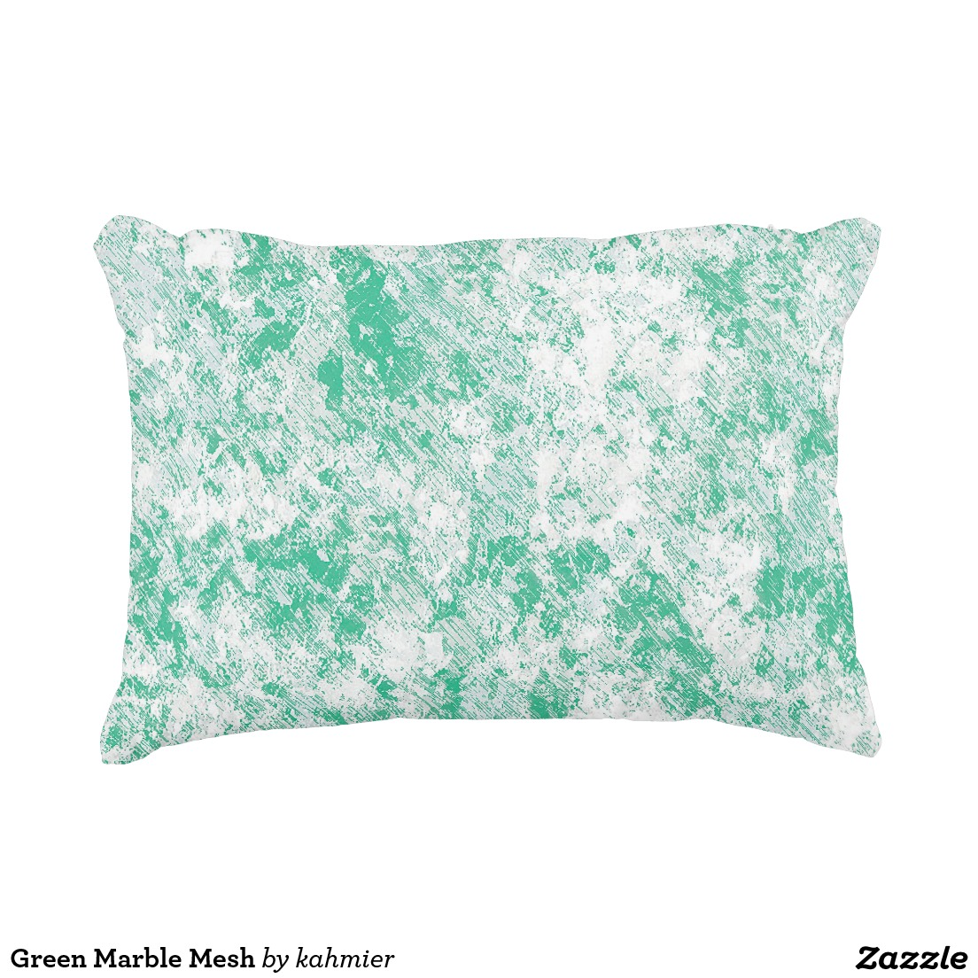 Green Marble Mesh Decorative Pillow