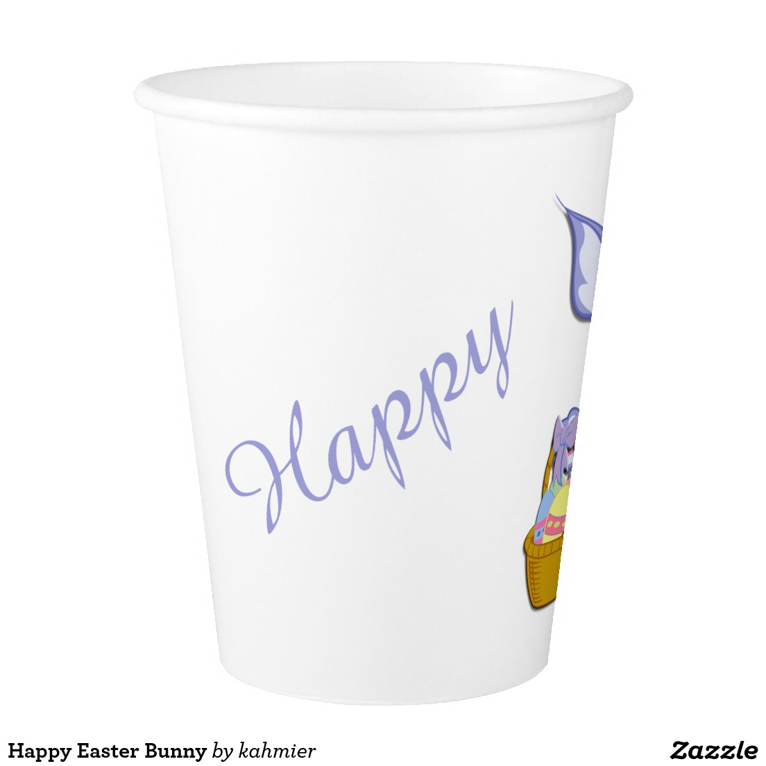 Happy Easter Bunny Paper Cup