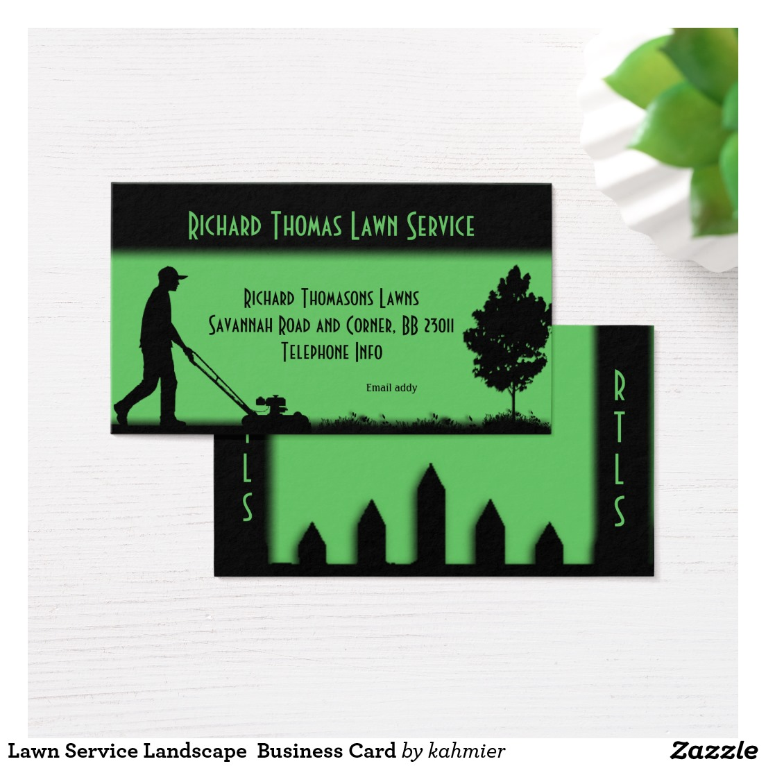 Lawn Service Landscape Business Card