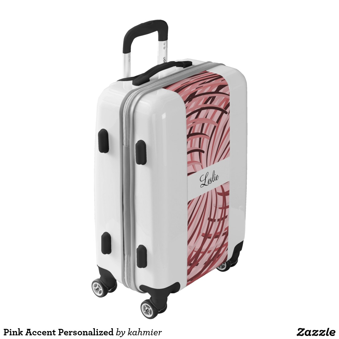 Pink Accent Personalized Luggage