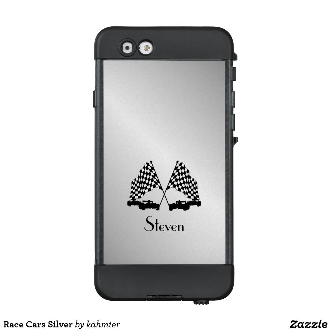 Race Cars Silver LifeProof® NÜÜD® iPhone 6 Case