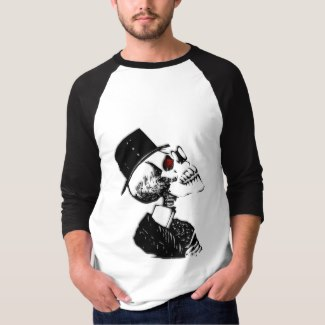 Red Eyed Preacher Skeleton T-Shirt