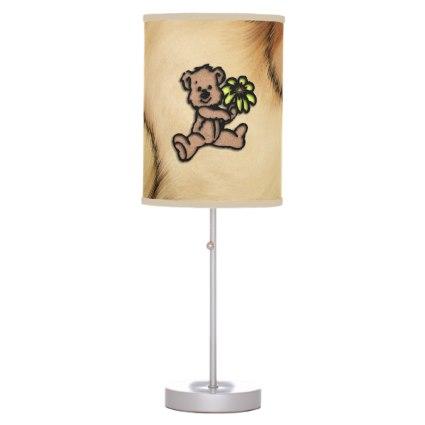 Rustic Daisy Bear Design Table Lamp