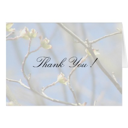 Spring Blossoms Wedding Thank You Card