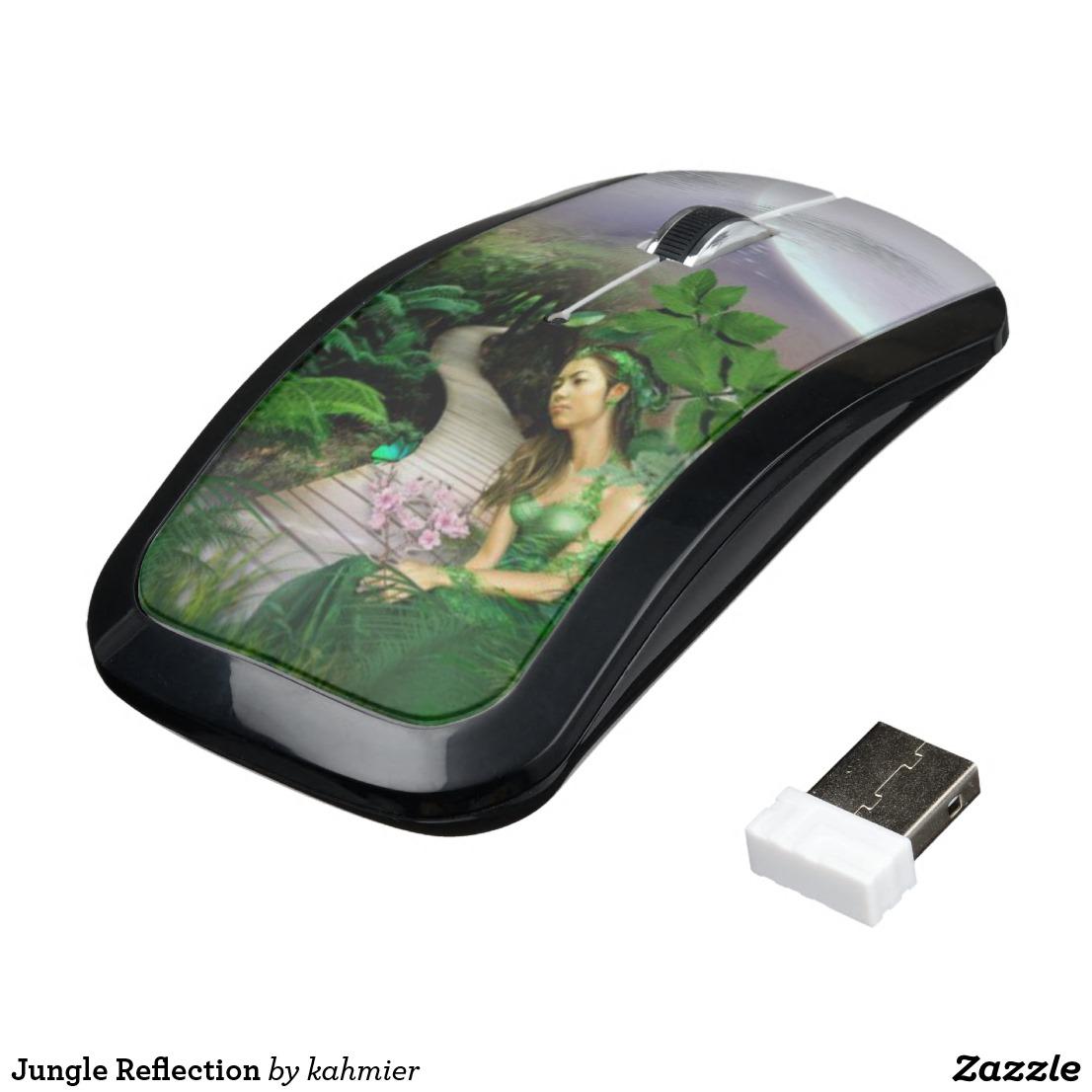 Jungle Reflection Wireless Mouse